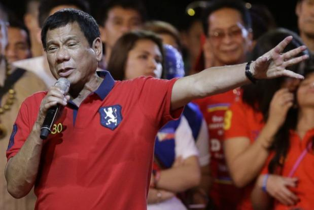 Duterte campaigning in Manila in early May.