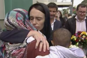 Prime Minister Jacinda Ardern visiting a Mosque in Wellington after the terror attack in Christchurch on Friday.