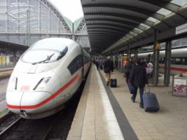 Energy-efficient transport: German high-speed train ICE beats cars as well as airplanes.