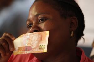 South Africa's new rand bills first came into circulation in November last year.