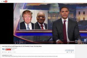 Trevor Noah likening Donald Trump to Jacob Zuma: https://www.youtube.com/watch?v=5tKOV0KqPlg