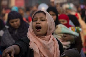 Protest in Delhi: Muslim women are selfconfidently insisting on a modern understanding of citizens' rights.