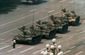 """Tank man"" in Beijing in 1989:  western media under-estimate the extent to which China opened up under authoritarian rule."