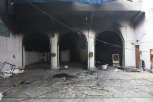 Faroquia Mosque was set on fire.