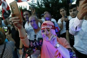 No, Istanbul's mayor Ekrem Imamoglu is not anti-Muslim: supporters celebrating on Sunday.