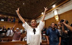 Souad Abderrahim of the Muslim Ennahda party is the mayor of Tunis.