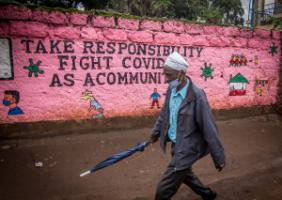 Sharing responsibility: graffiti in Nairobi, Kenya's capital city.