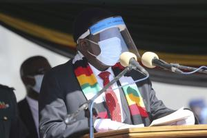 President Emmerson Mnangagwa observes Covid-19 rules – but also uses them for less than benevolent purposes.