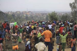 Security is rapidly deteriorating: Internally displaced people in Bunia in Eastern Congo.