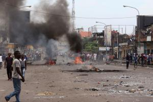 Violent protests erupted in Kinshasa because of the election postponement.