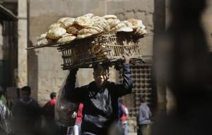 Street vendor in Cairo: Egypt's informal sector is huge.