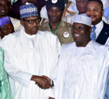 Buhari (left) and Abubakar, the incumbent president and the leading challenger