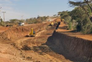 Chinese construction companies are active on many continents: road project in Ethiopia.