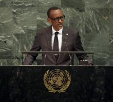 A strong voice for pan-African interests: Kagame addressing the UN in September 2017.