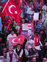 Increasingly self-confident: Erdoğan supporters after the coup attempt in July 2016.