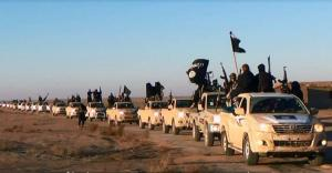 Isis convoy in western Iraq in early 2014.