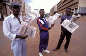 Narratives matter: Ugandan newspaper vendors.