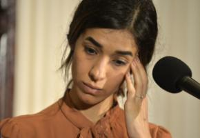 Nadia Murad during a press conference in Washington in October 2018.