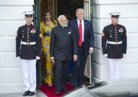 Narendra Modi visiting Donald Trump in Washington in June.