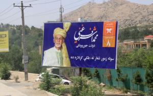 President Ashraf Ghani wants to be re-elected: campaign billboard in Kabul.