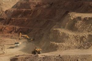 Peruvian copper mine: human rights abuses are common in resource extraction.