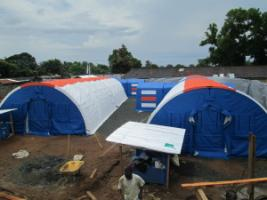 The isolation station in Monrovia, Liberia, funded by the Else-Kröner-FreseniusFoundation.