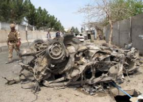 Remainders of a car bomb in March 2015.