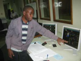 Control room of a Kenyan geothermic power plant that was built with loans from KfW and other financial institut..