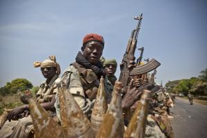 Soldiers from Chad intervening in the Central African Republic in support of President Bozizé.