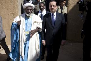 President François Hollande visiting Timbuktu in February.