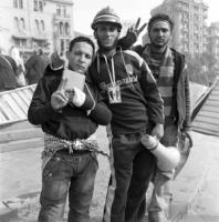 """Many people think that the Muslim Brothers were the last to get to the revolutionary train – and the first to jump off"": young revolutionaries on Tahrir Square before the fall of Mubarak."
