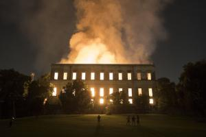 Irretrievable losses: Rio's Museo National went up in flames.