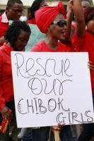 Women and girls suffer in northern Nigeria, not only because of Boko Haram: Protesting in Abuja.