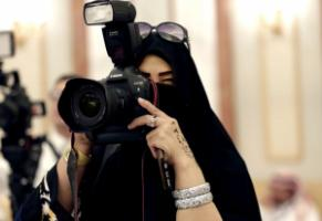 Women in Saudi Arabia have few professional options: a journalist in Riyadh.