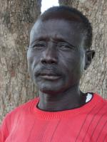 Old man in Bor, South Sudan.