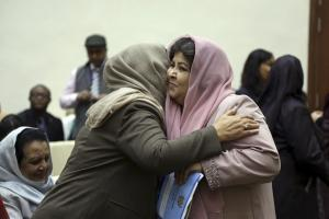 Participants in an event to celebrate International Women's Day in Kabul in 2018.