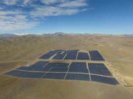 Solar-power facility in northern Chile.
