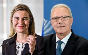 Federica Mogherini, High Representative for Foreign Affairs and Security Policy and Neven Mimica, Commissioner for development affairs.