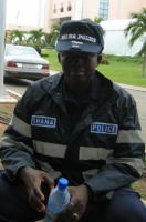 A police officer in Accra: Ghana's transition to democracy was supported by donors and is considered a success.