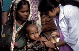 Vaccinations mean more safety: mothers and children in Bangladesh.