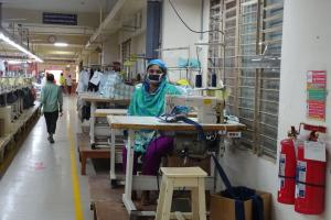 Inequality results from the current economic order, warns Oxfam: worker in Bangladeshi garment factory.