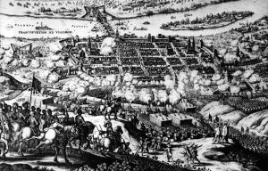 Swedish army besieging Frankfurt on Oder in 1631.