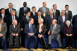 Tensions between established and emerging powers do not explain everything: finance ministers and central bankers from the G20 with IMF head Christine Lagarde (centre) in Shanghai in February.