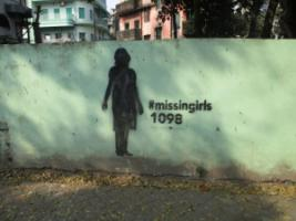 More information on civil-society activism would be useful in both India and Pakistan: #missingirls is a Kolkatan artist's campaign to raise awareness of human trafficking and child prostitution.