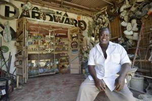 Someon Otieno from Kenya has started a hardware store in spite of his walking disability.