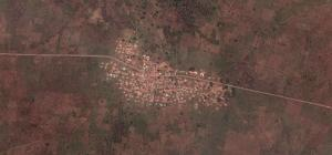 Satellite images help, but data-collection on the ground is indispensable: a settlement in northern Ghana.