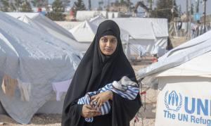 Western countries are struggling with ISIS returnees: British jihadist Shamima Begum with her baby who died of pneumonia in a Syrian refugee camp in February.