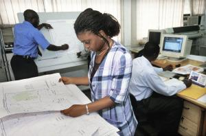 Remote sensing lab at the Uiversity of Ghana
