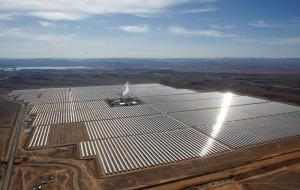The world's largest concentrated solar power plant is located in Ouarzazate, Morocco.