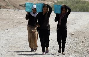 Many Yezidi women had to flee their homes in Northern Iraq due to assaults by ISIS militias and are know facing violence and harsh living conditions.